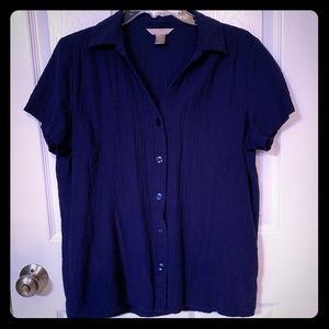 Women's Large White Stag Blouse